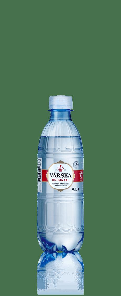 """Mineraalvesi """"Värska Originaal"""" 0.33 L, karboniseeritud"""