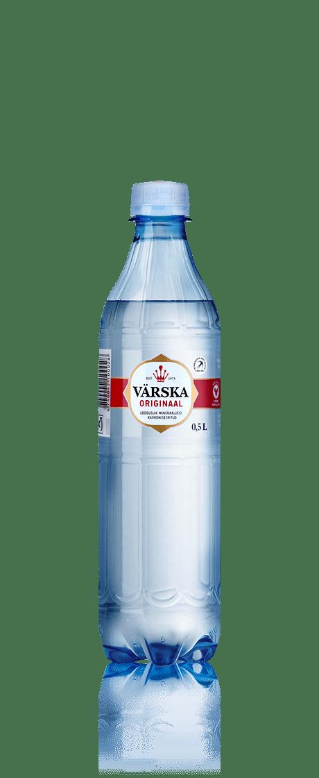 """Mineraalvesi """"Värska Originaal"""" 0.5 L, karboniseeritud"""