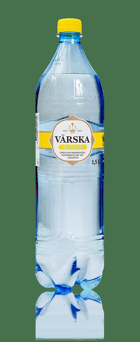 """Mineraalvesi """"Värska Sidrun"""" 1.5 L, karboniseeritud"""
